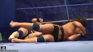 Honey Demon and Melanie Memphis wrestling Thumbnail