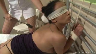 Katy Parker gives sexual treatmend by nurse  Kerry Thumbnail
