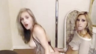 Sexy body amateur blondie ride strapon on cam Thumbnail