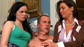 Sexy mum watches as stud pounds sweet babes twat Thumbnail