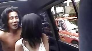 Slutty schoolgirl blows her driver and rides him like a slut Thumbnail