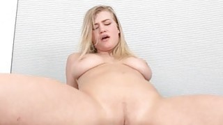 2 gorgeous honeys share a tough male dick Thumbnail