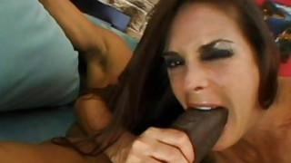 Anal gap of woman is stuffed by huge black cock Thumbnail