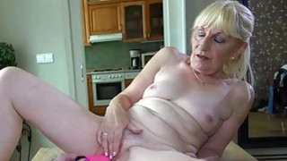 OldNanny Lesbian on the table masturbation Thumbnail