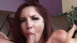 Giselle Leon does slow and sloppy deepthroat BJ Thumbnail