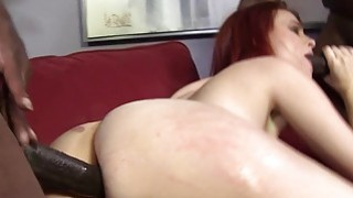 Andrea Sky Double Penetrated by Big Black Cocks Thumbnail