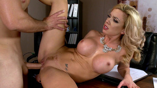 Principal Parker Swayze gets fucked on her own desk Thumbnail