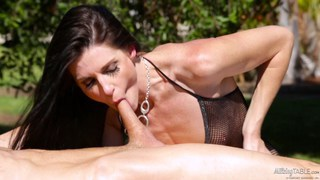 MILF India Summer creampied on the milking table Thumbnail