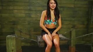 Hot babe Marina angel in wild and hard threesome bondage sex Thumbnail