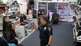 Two babes punished for trying to steal thing at the pawnshop Thumbnail