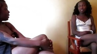 Hot redhead Ebony and her sexy black girlfriend play with a dildo Thumbnail