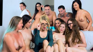 Girlfriends stumble into the mist of nudists and swingers Thumbnail