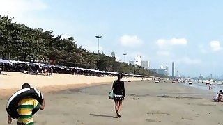 Sexy Thai babe picked up on the beach and fucked POV Thumbnail