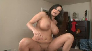 Busty brunette Stephanie Wylde rides on cock Thumbnail