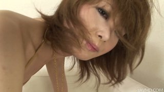 Asian chick Rika Sakurai will die for getting all her holes polished Thumbnail