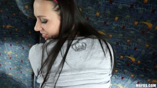 Hot quckie on the train with cheap slut Mea Melone POV style Thumbnail