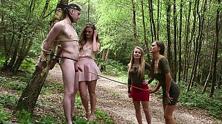 CFNM foursome in the forest Thumbnail