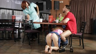 Kinky threesome in a very public place Thumbnail