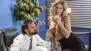 Incredibly hot session with a busty blonde secretary Thumbnail