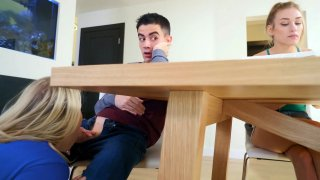 Mom Blows Daughter's BF while Studying! Thumbnail